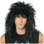 Rock Star 80's Wig (Black) Adult